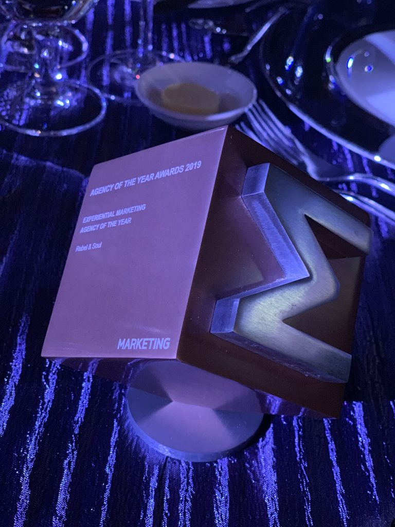 Marketing Magazine AOTY - Experiential Agency - Rebel & Soul 2