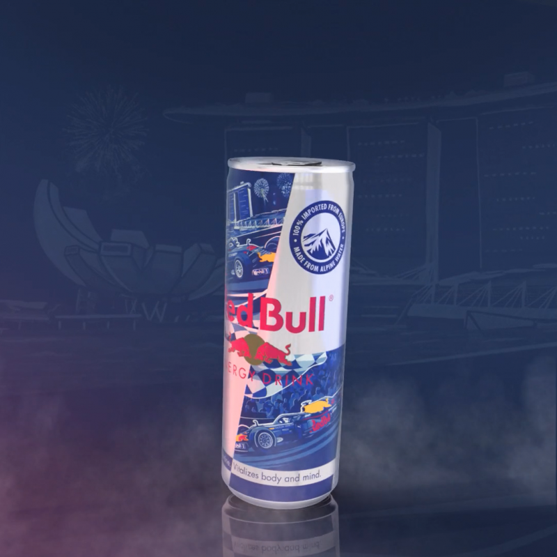 Bespoke can design for the 2019 Red Bull x Formula 1 race in Singapore