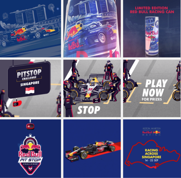 Red Bull - Formula 1 advertising banners