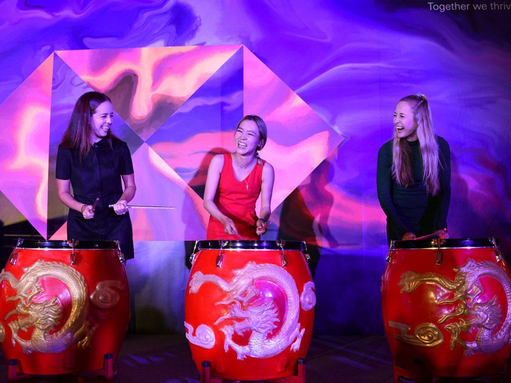 HSBC Female Golf Wolf Champions Drumming