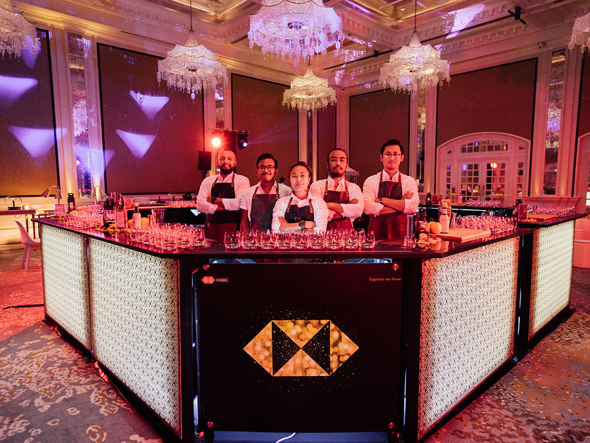Custom made bar for HSBC Diwali evtent