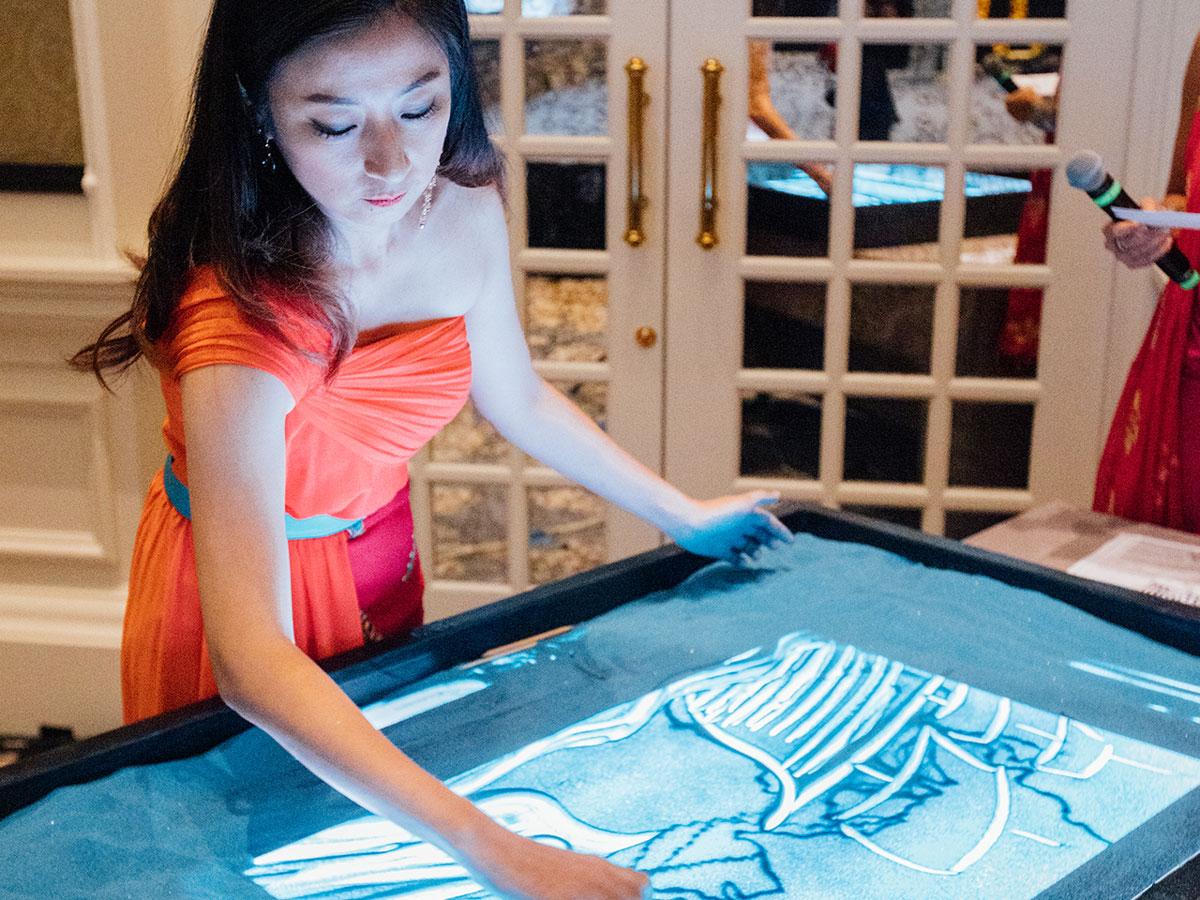 Diwali sand artist