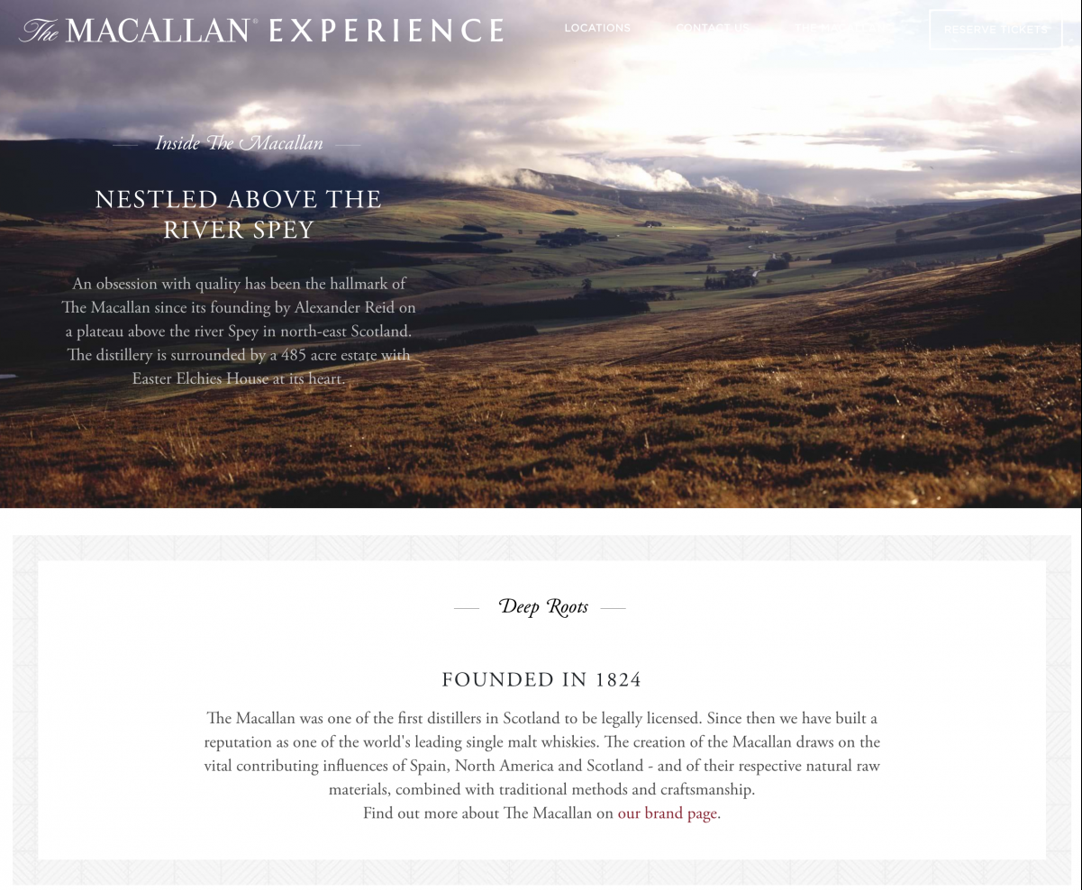 The Macallan Experience - Microsite about The Macallan