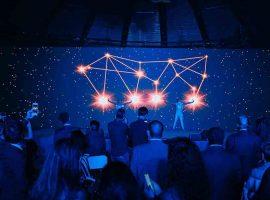Interactive light performance at Tayrona Capital APAC lanch