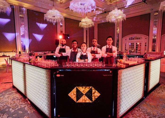 Custom made bar for HSBC Diwali evtent